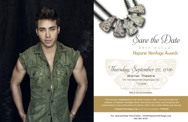 Prince Royce Honored By The Hispanic Heritage Foundation