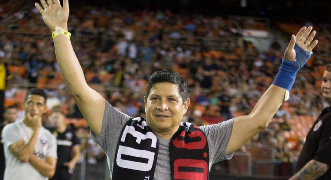 HHF's President and CEO Recognized at D.C. United's Halftime